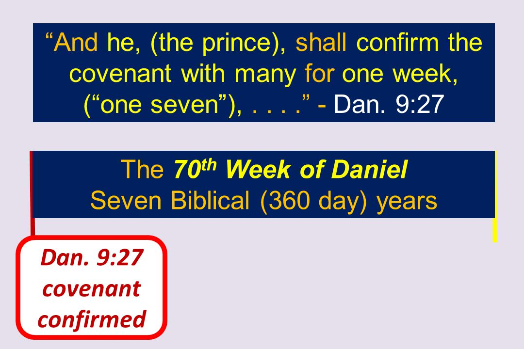 Seven Biblical (360 day) years