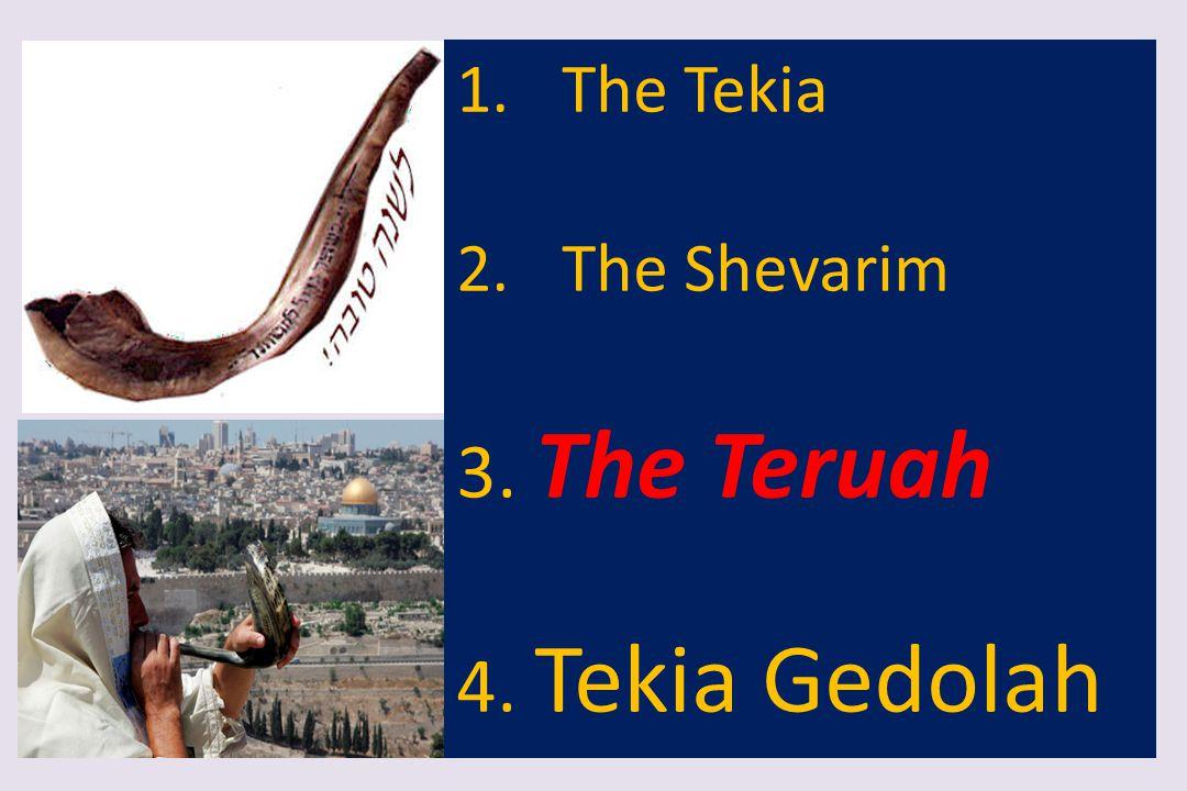 The Tekia The Shevarim 3. The Teruah 4. Tekia Gedolah