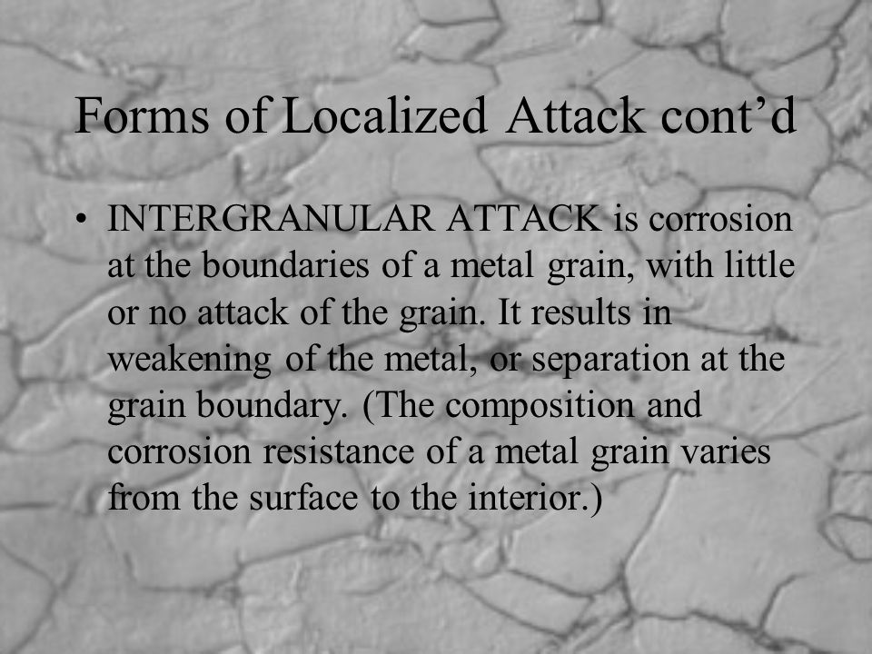 Forms of Localized Attack cont'd