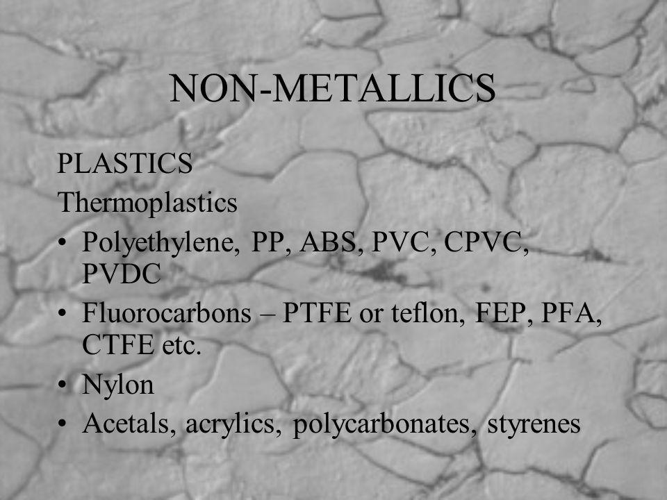 NON-METALLICS PLASTICS Thermoplastics