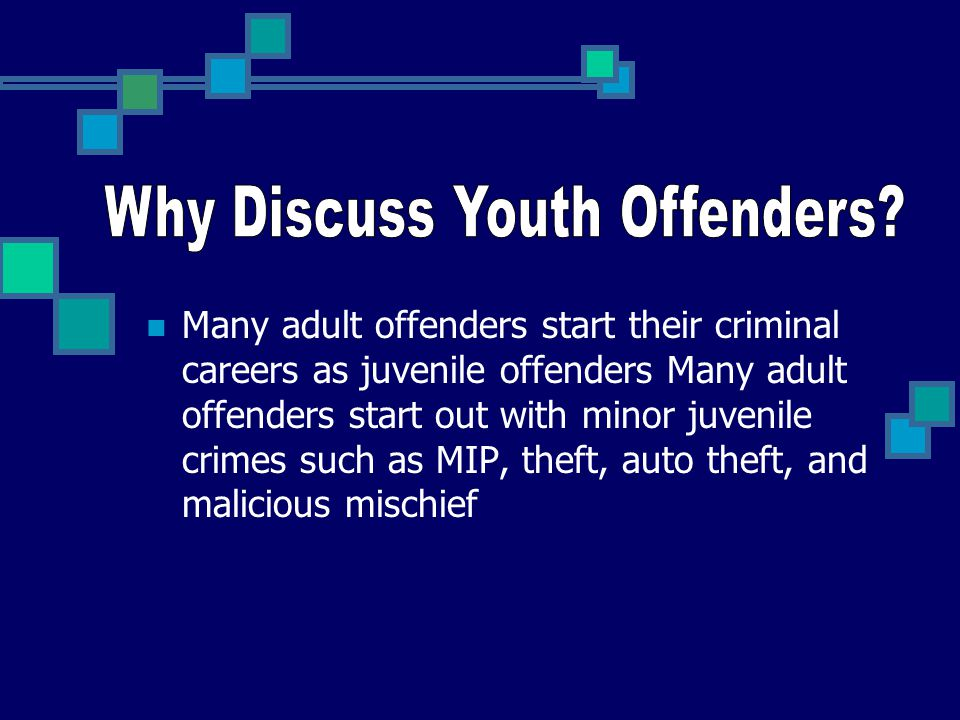 Why Discuss Youth Offenders