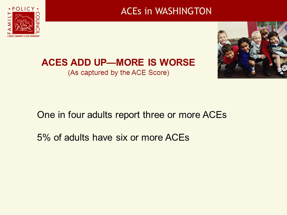 ACEs add up—more is worse
