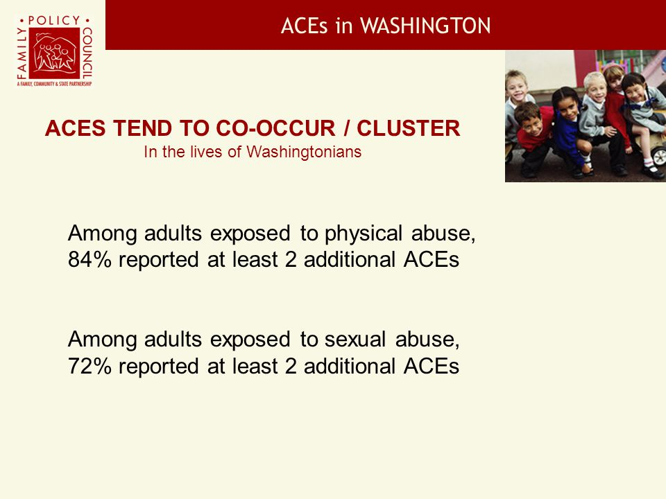 ACEs tend to co-occur / cluster
