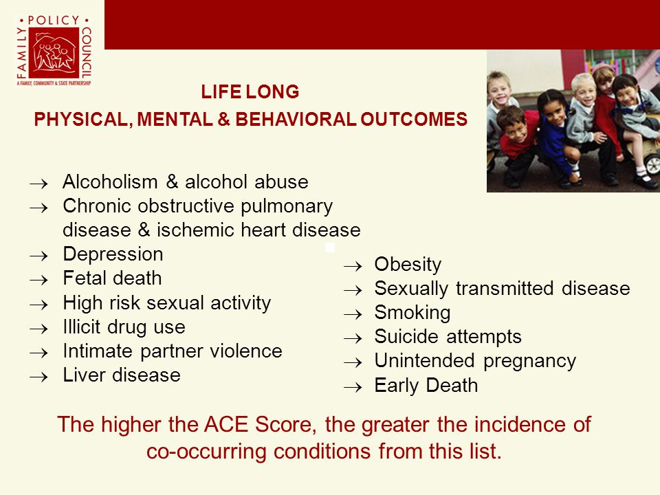 PHYSICAL, MENTAL & BEHAVIORAL OUTCOMES