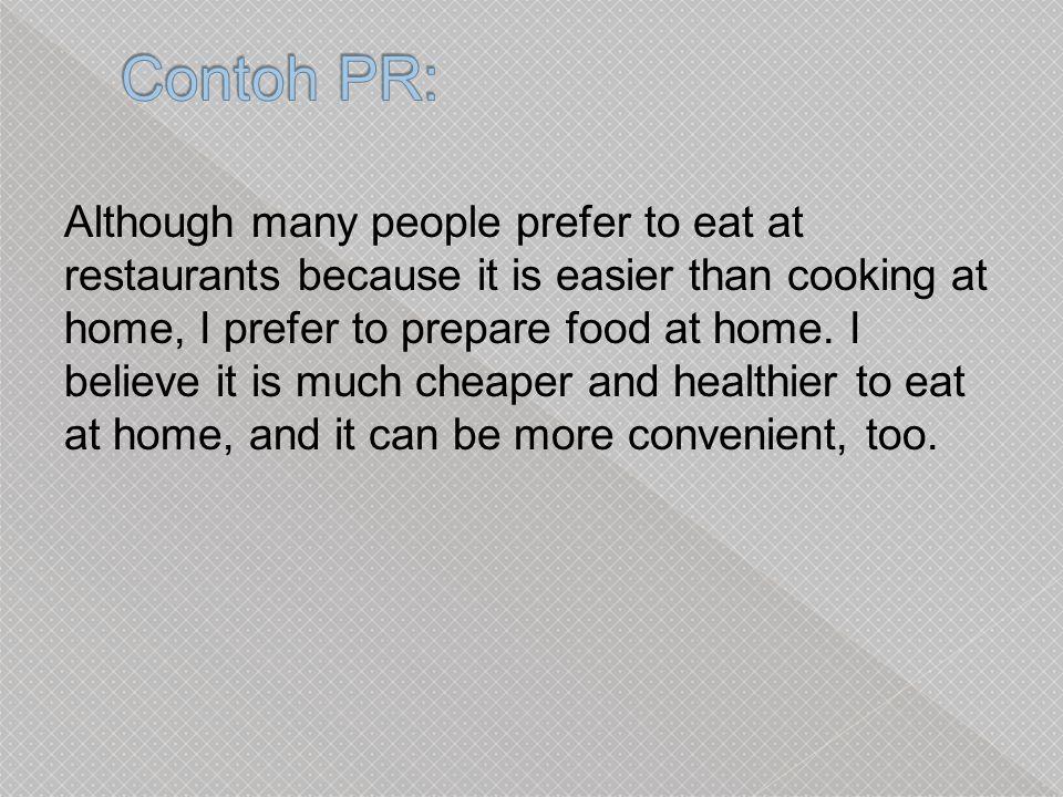 Contoh PR: