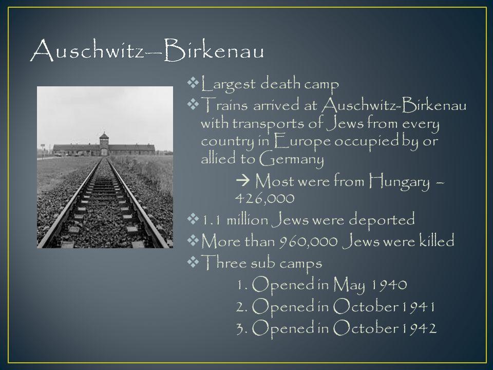 Auschwitz—Birkenau Largest death camp