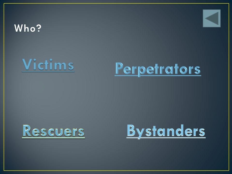 Victims Perpetrators Rescuers Bystanders