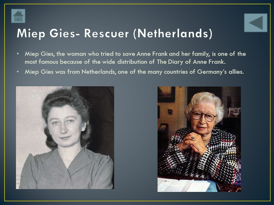 Miep Gies- Rescuer (Netherlands)