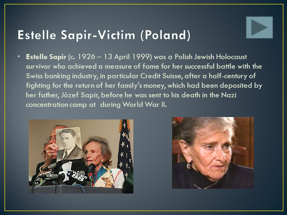 Estelle Sapir-Victim (Poland)