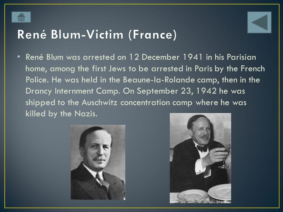 René Blum-Victim (France)