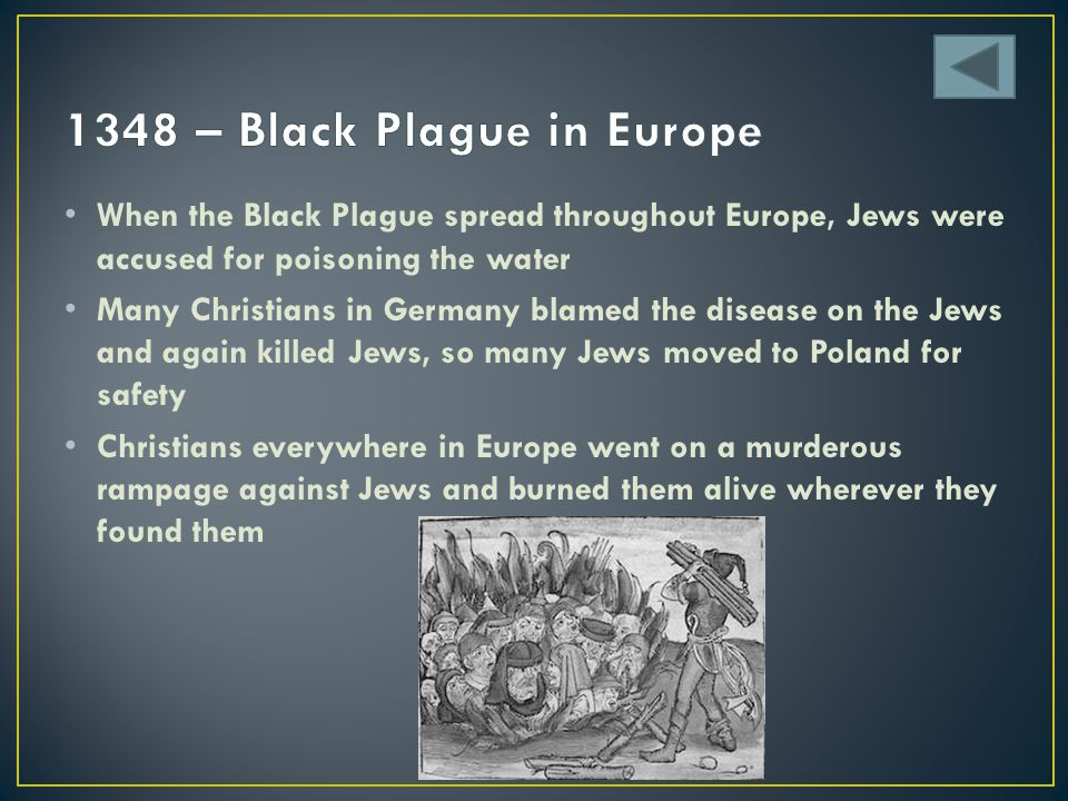 1348 – Black Plague in Europe