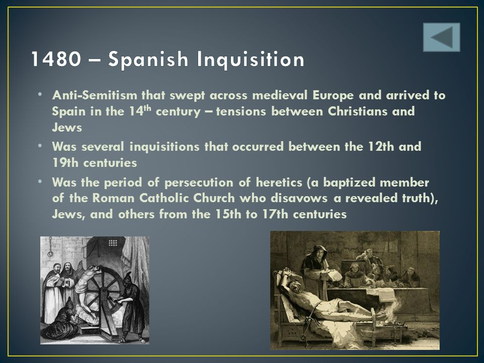 1480 – Spanish Inquisition