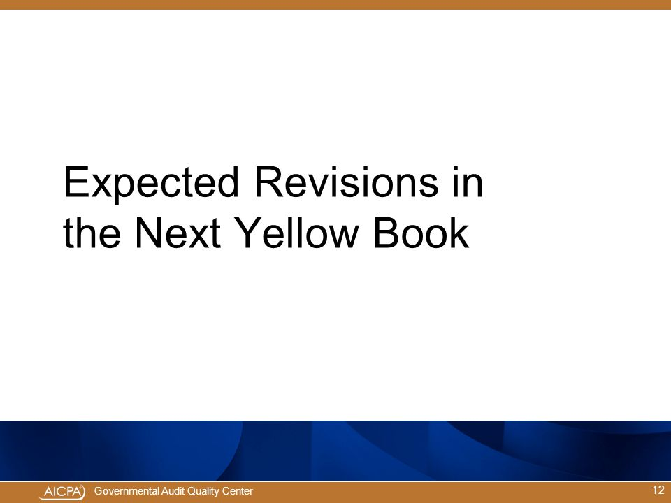 Expected Revisions in the Next Yellow Book
