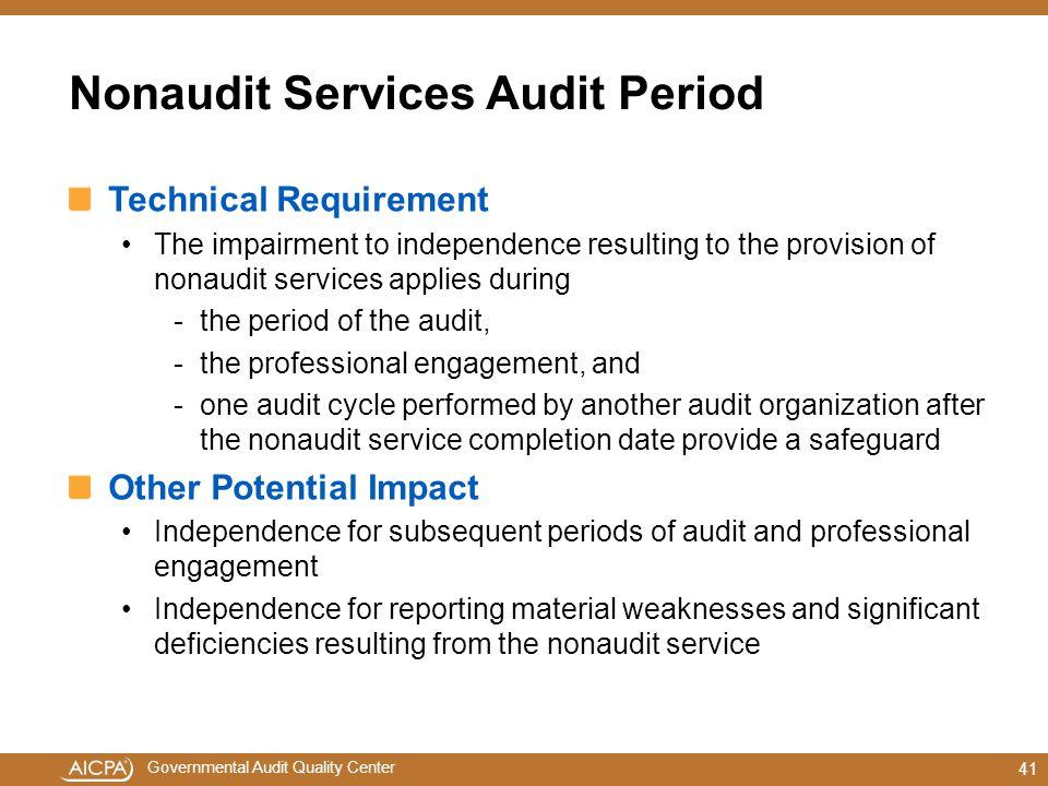 Nonaudit Services Audit Period