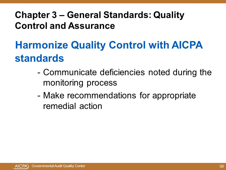 Chapter 3 – General Standards: Quality Control and Assurance