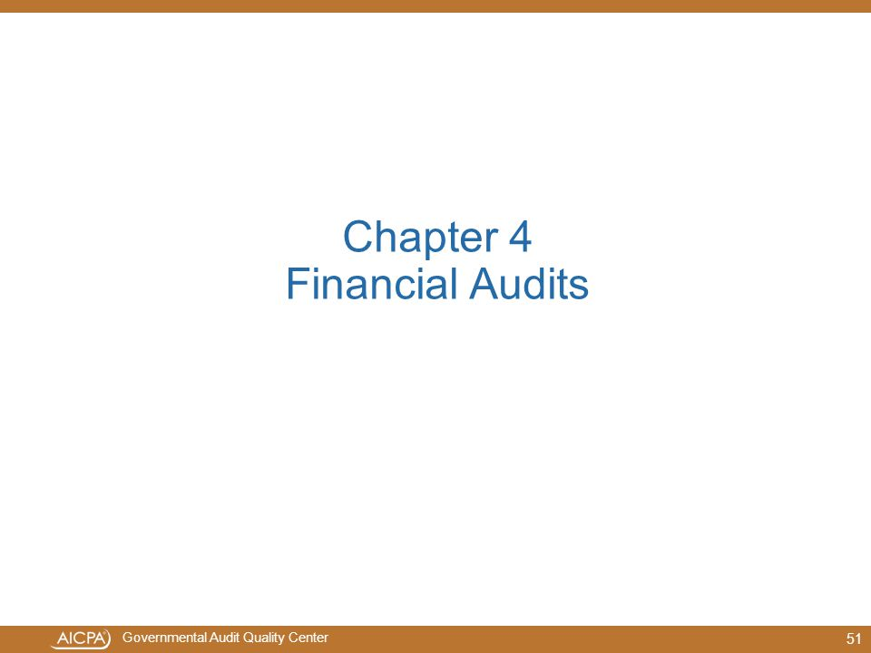 Chapter 4 Financial Audits