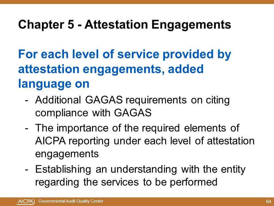 Chapter 5 - Attestation Engagements