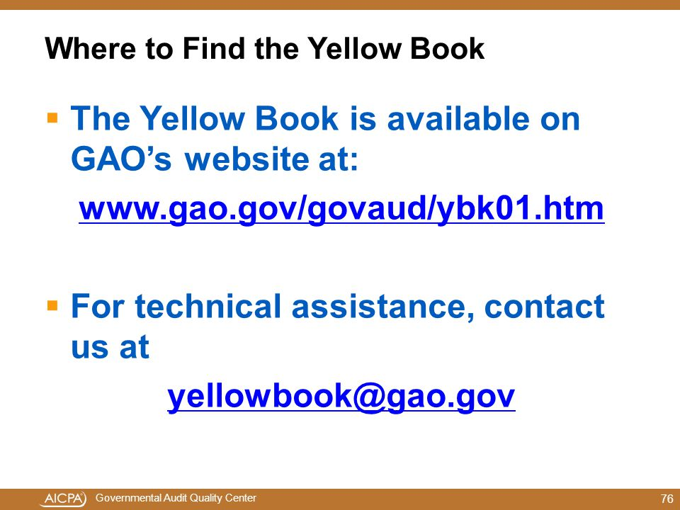 Where to Find the Yellow Book