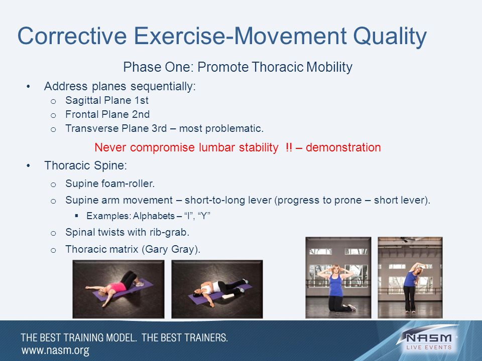 Corrective Exercise-Movement Quality