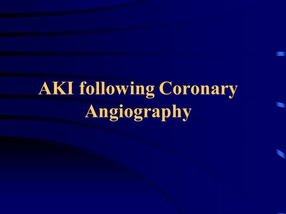 AKI following Coronary Angiography