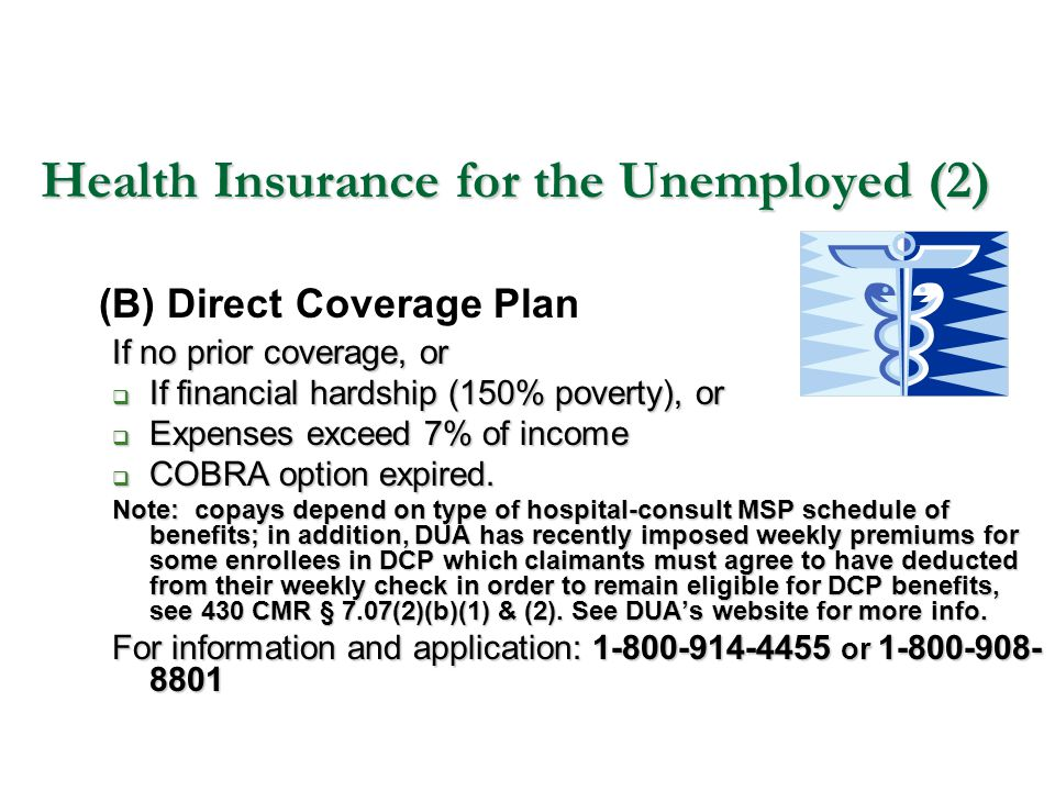 Health Insurance for the Unemployed (2)