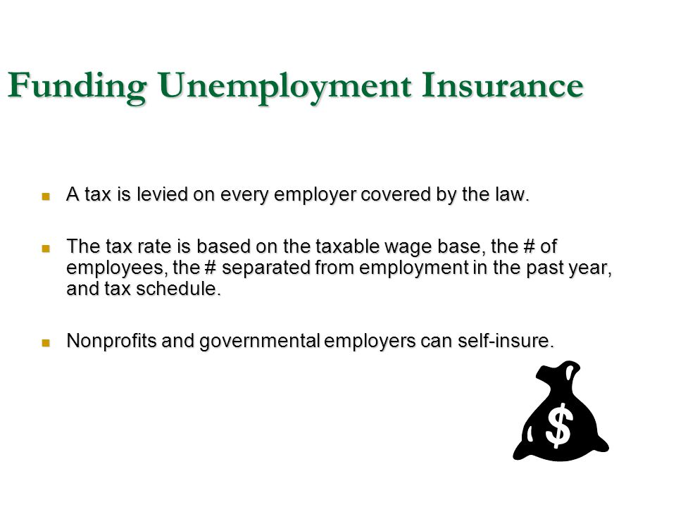 Funding Unemployment Insurance