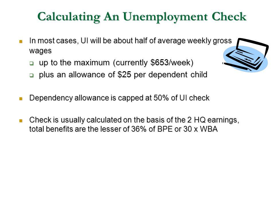 Calculating An Unemployment Check
