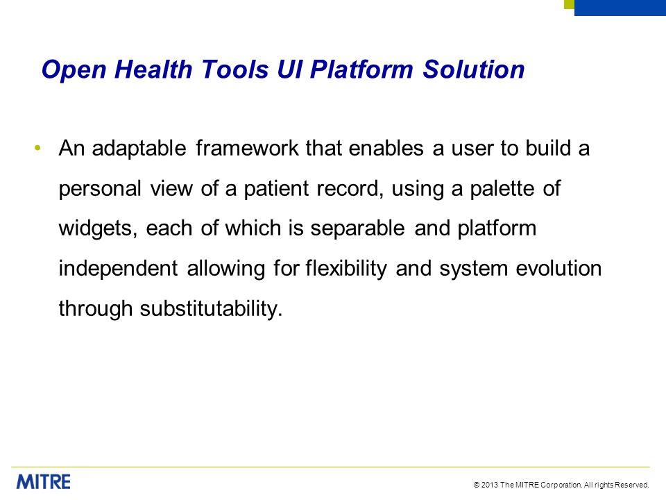 Open Health Tools UI Platform Solution
