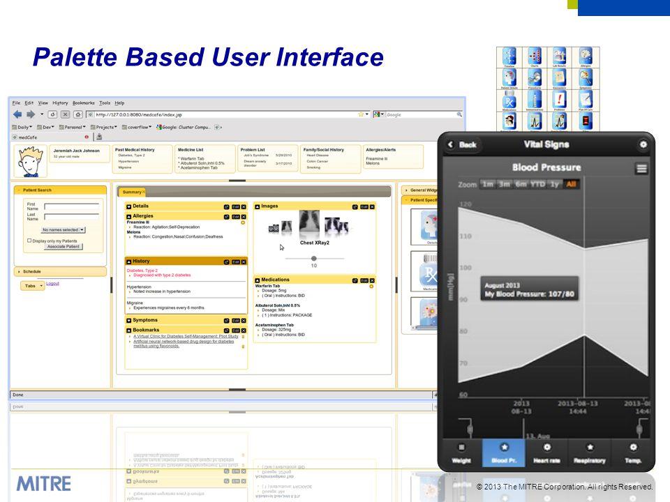 Palette Based User Interface