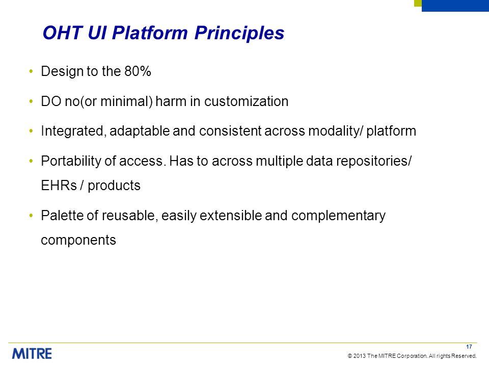 OHT UI Platform Principles