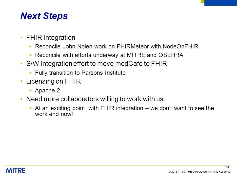 Next Steps FHIR Integration