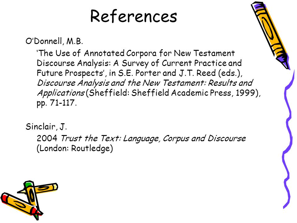 References O'Donnell, M.B.