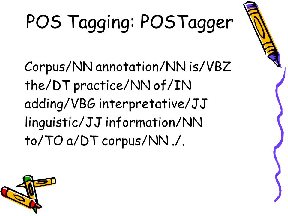 POS Tagging: POSTagger