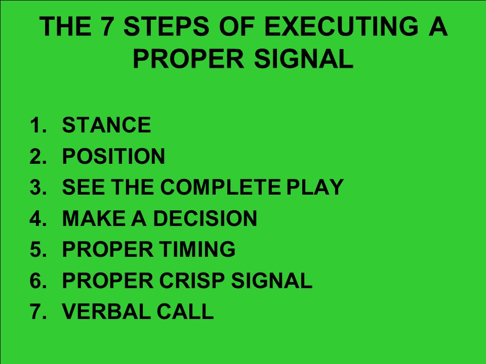 THE 7 STEPS OF EXECUTING A PROPER SIGNAL