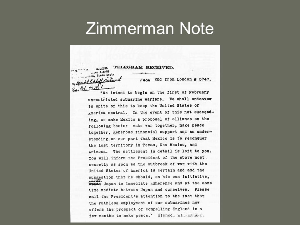 Zimmerman Note 11