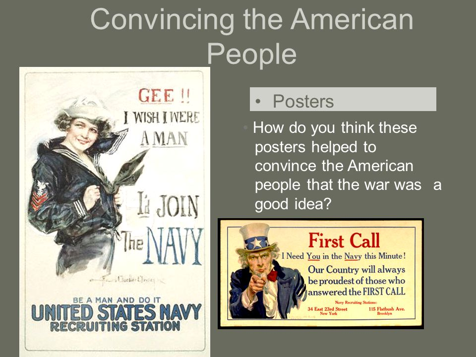 Convincing the American People