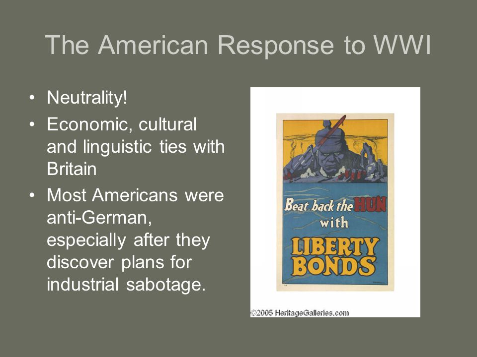 The American Response to WWI