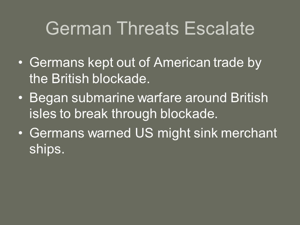 German Threats Escalate