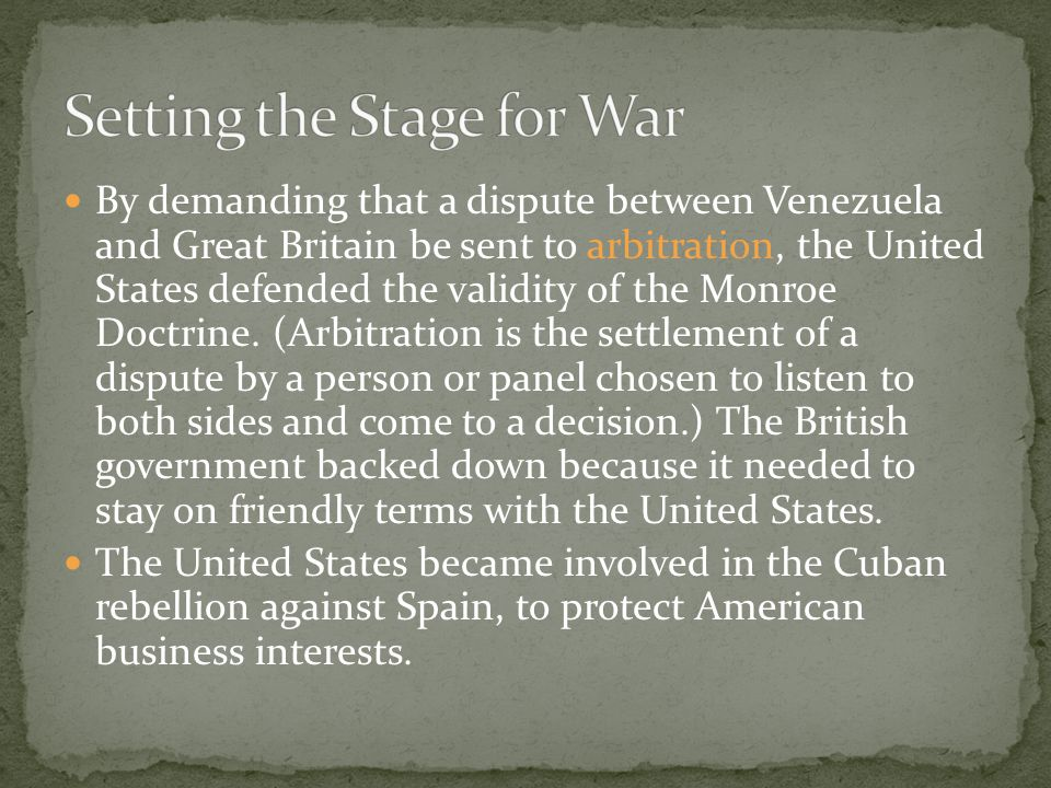 Setting the Stage for War
