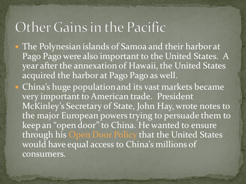 Other Gains in the Pacific