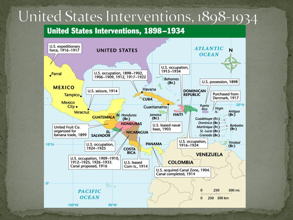 United States Interventions, 1898-1934