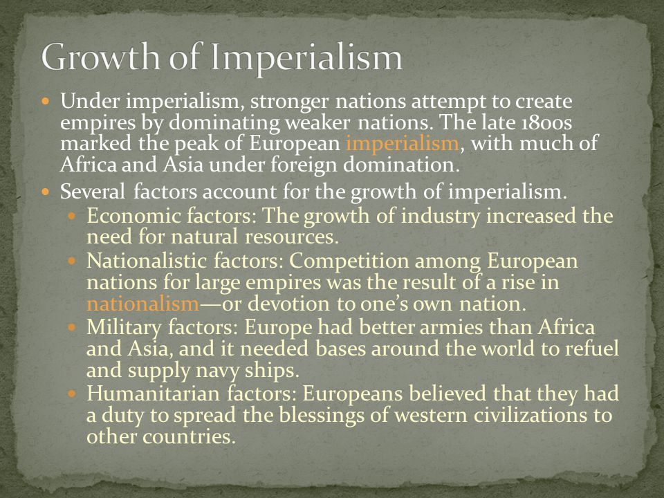 Growth of Imperialism