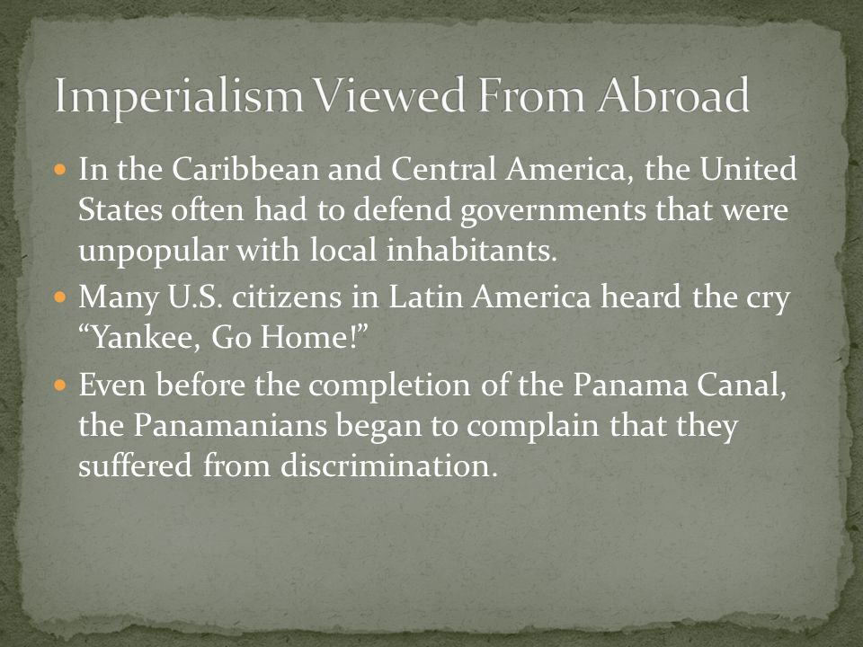 Imperialism Viewed From Abroad