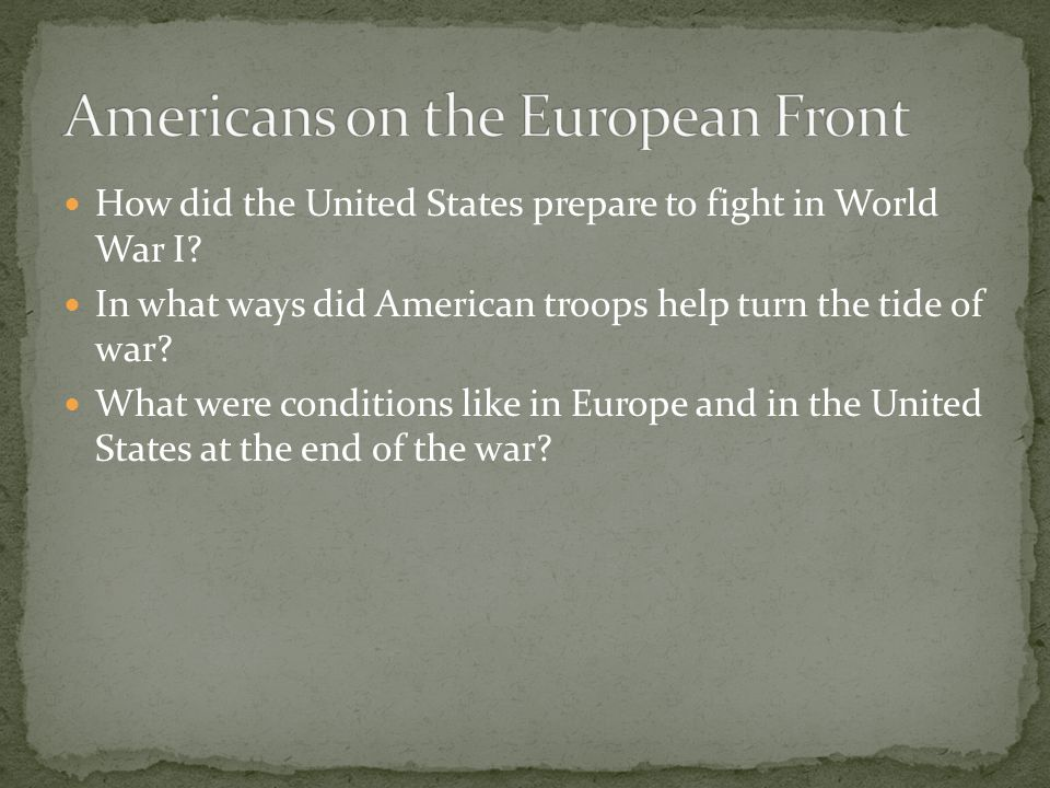 Americans on the European Front