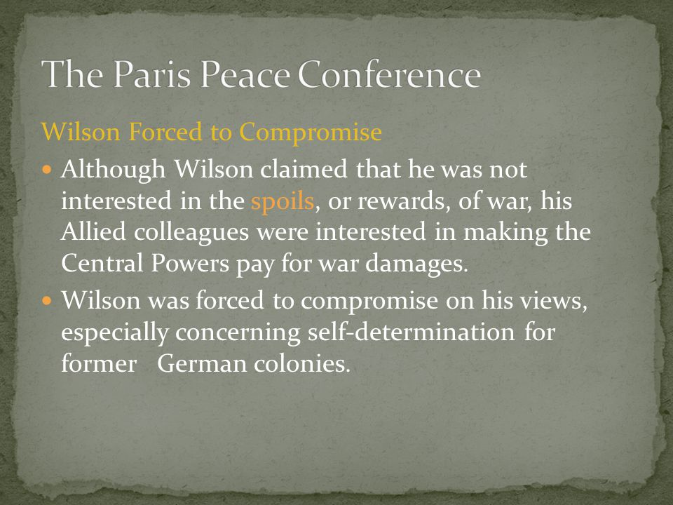 The Paris Peace Conference