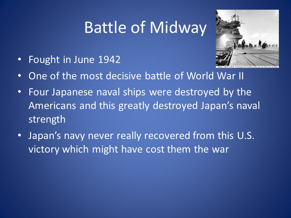 Battle of Midway Fought in June 1942