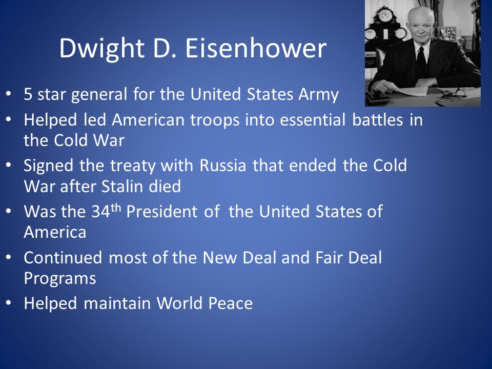 Dwight D. Eisenhower 5 star general for the United States Army