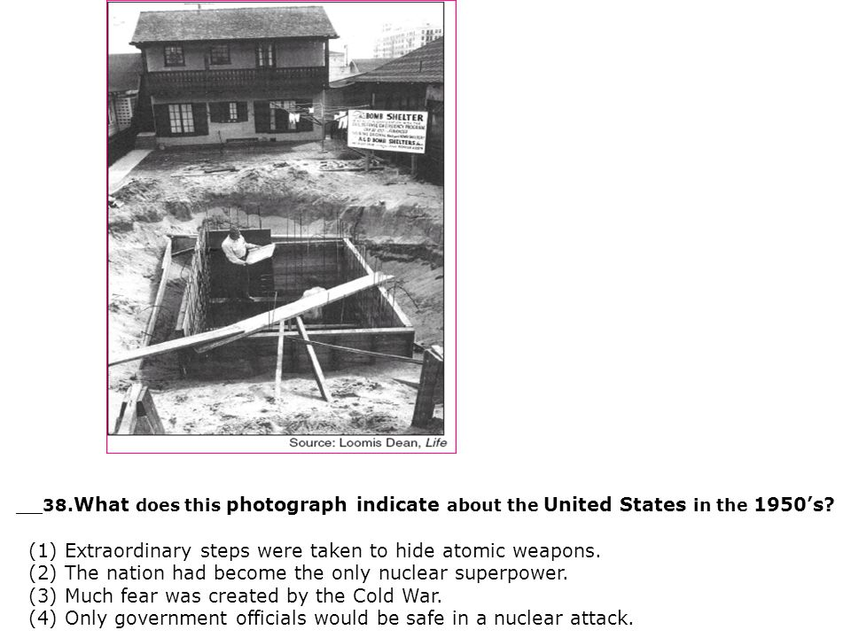 __38.What does this photograph indicate about the United States in the 1950's