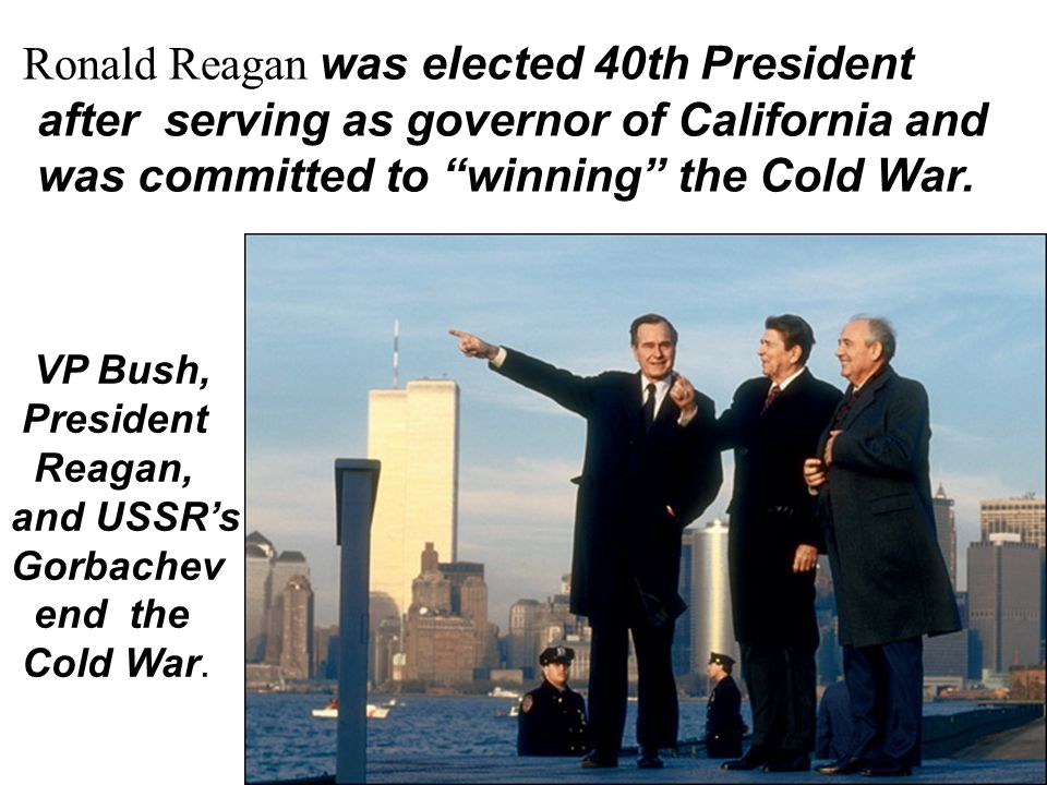Ronald Reagan was elected 40th President