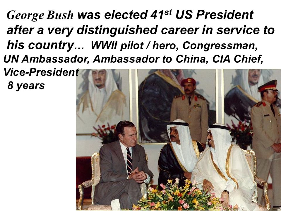 George Bush was elected 41st US President